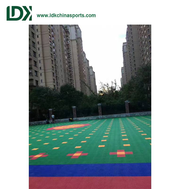 Professional plastic basketball floor
