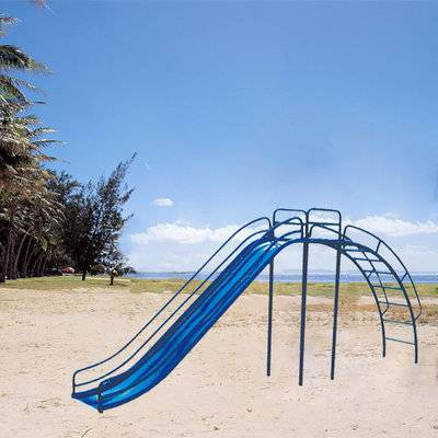 Kids outdoor metal playground slides, safe children's slide wholesale