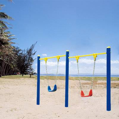 Outdoor metal swings sets for kids, slide and swing set manufacturer