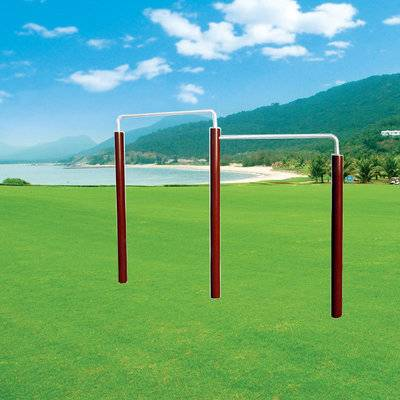 Low price outdoor gym equipment double horizontal bar wholesale