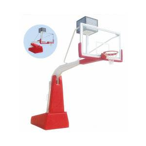 Professional international standard elastic equilibrium basketball stand for high grade competition