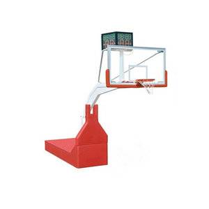 Standard indoor sport equipment professional portable hydraulic basketball stand