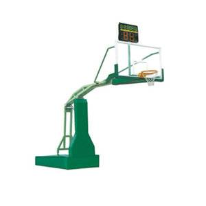 Competition sports equipment electric hydraulic movable basketball stand for sale