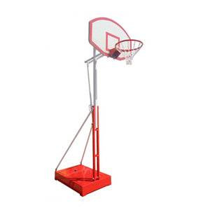 Outdoor sports equipment height adjustable portable basketball hoop for sale