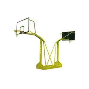 Outdoor moveable safety public used petrel double basketball stand