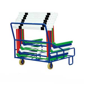 Environmental sport equipment hurdles cart for competition