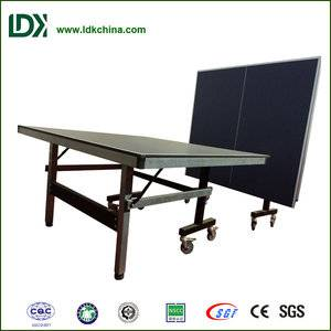 Top quality sport equipment single folding indoor MDF table tennis tables for sale
