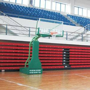 Half court certified safety tempered glass basketball post basketball hoop