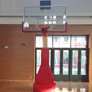 Easily electric Hydraulic fold basketball hoop for sale in bulk
