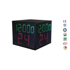 5 Digits LED four sided 24 second shot clock for basketball stand