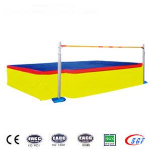 Most popular high grade mesh coating gym pad high jump mat