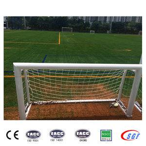 Top quality moving portable full size soccer goals for sale