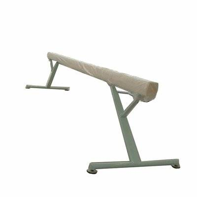 Adjustable height aluminium oval bar gymnastics balance beam
