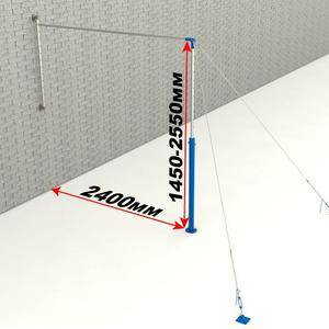 Adjustable cheap gymnastics equipment Wall mounted horizontal bar for sale