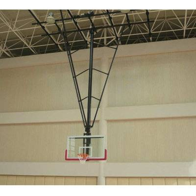 12mm tempered glass backboard ceiling mounted basketball goals basketball hoop