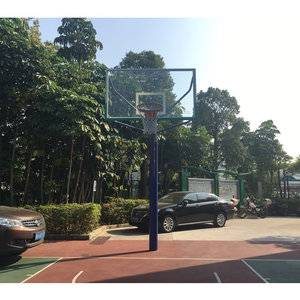 Outdoor tempered glass backboard basketball post basketball hoop stand