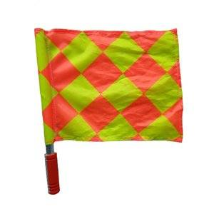 Aluminum pole soccer hand flag for football competition