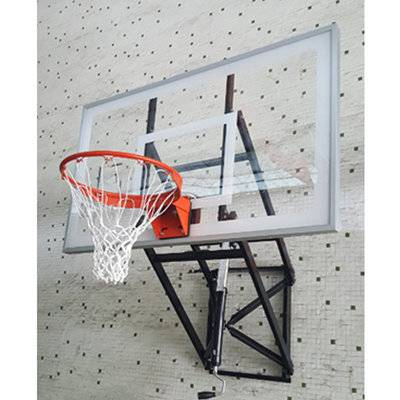 Tempered glass extension 2.35m wall mounted basketball stand