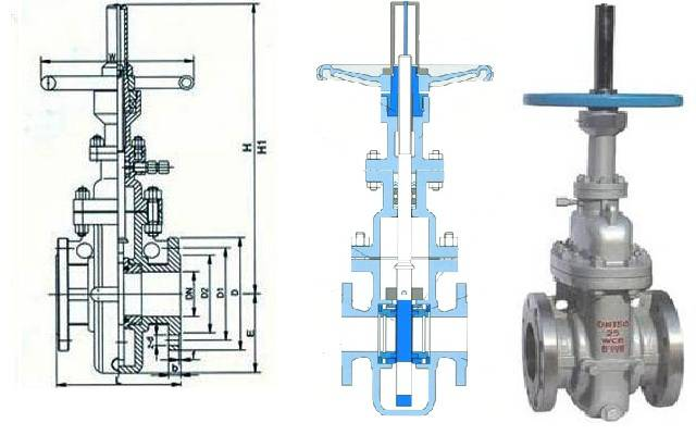 Parallel slide gate valve