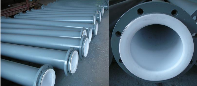 Pipe lined PTFE