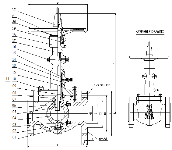 DRAWING FOR OBRIT BALL VALVE