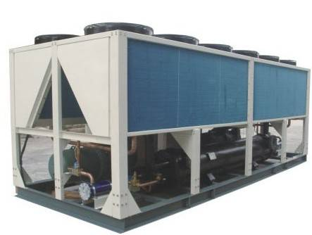 450KW Energy Saving Air Cooled Screw Chiller With shell and tube evaporator for thermforming cooling