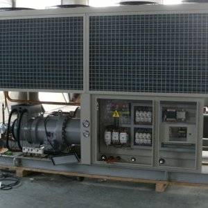 375KW air cooled water chiller with Hanbell screw compressor for textile industrial usage