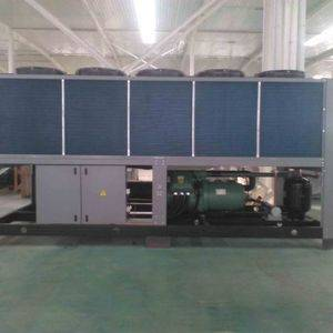 360KW screw type air cooled water chiller used in Plastic Film Blowing Machine