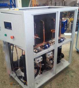 56KW -5C/-10C extroplat processing industrial water cooled glycol chiller machine