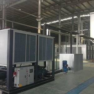 0/-5C 190kw capacity air cooled low temperature water chiller used in Milk cooling process