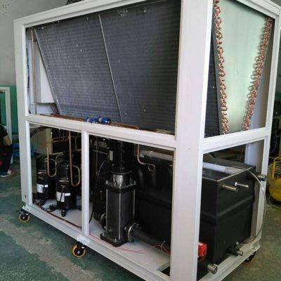 24KW heating capacity heat-cold due usage water chillers for shoe making machine