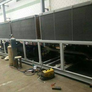 200Tons air to water cooled screw chiller for air conditioning equipment export to Mexico