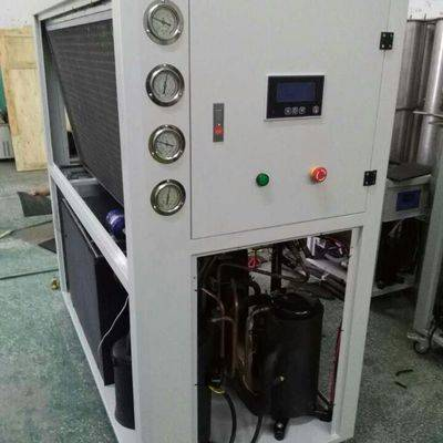 -5C 10TR air cooled  glycol water chiller used in Chocolate Mold cooling and packaging Australia
