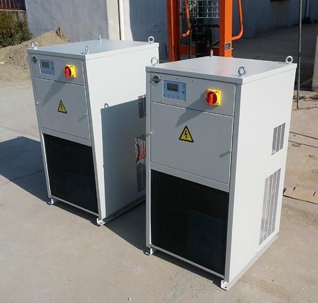 28kw cooling capacity portable oil cooling chiller for hydraulic oil processing