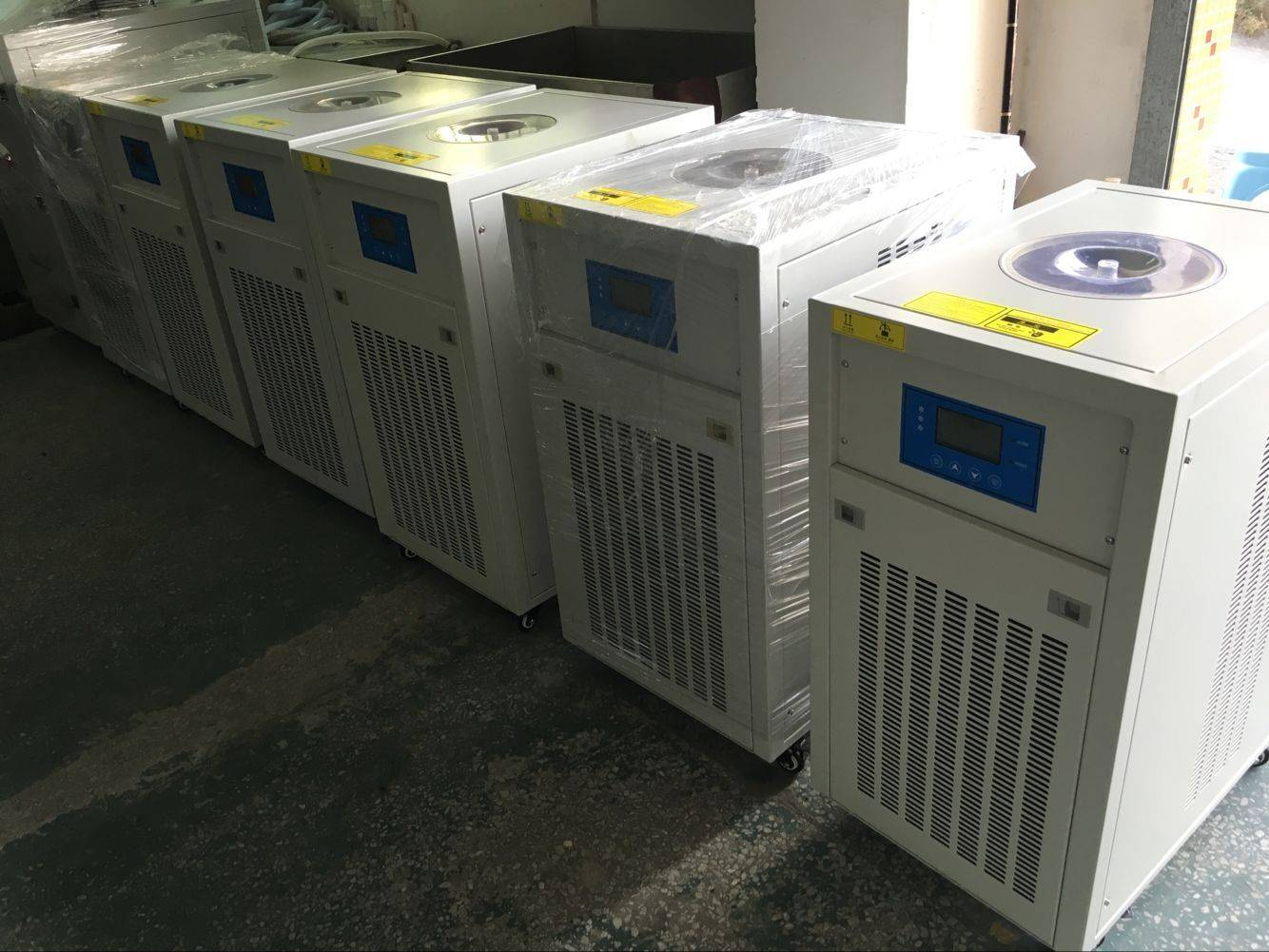 3.5Tons portable packaged type portable air cooled chiller for laboratory testing use