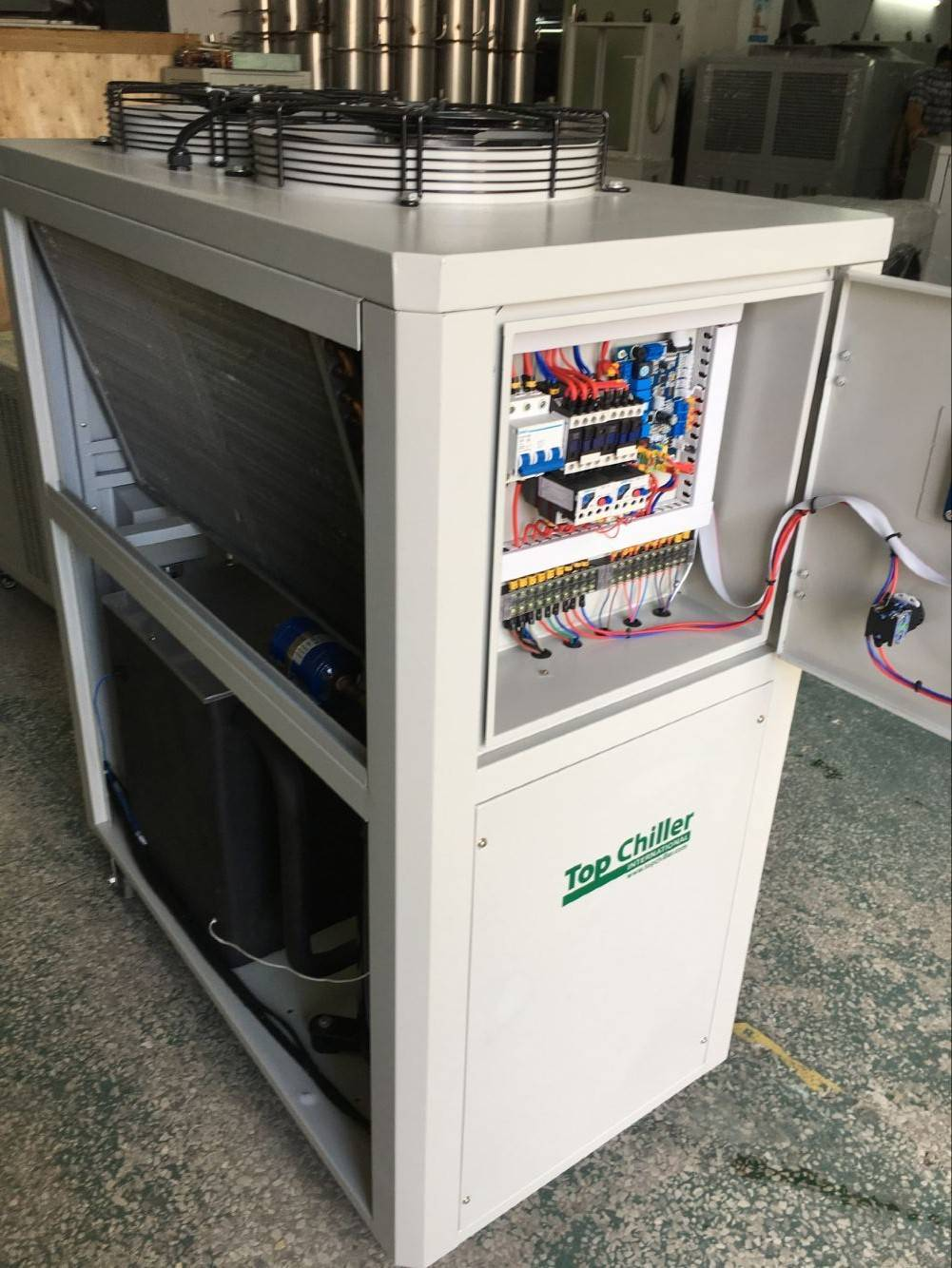 Industrial Air cooled chiller enfriador de agua, refrigerado por aire