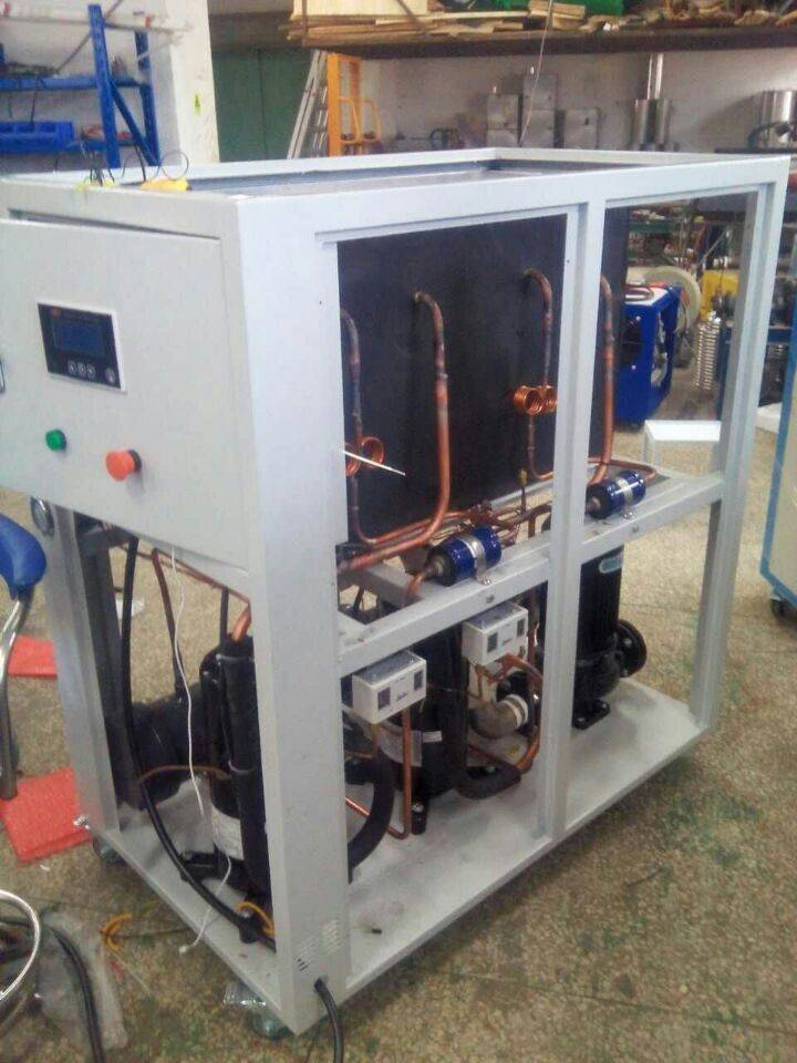 water cooled shell and tube type  water to water chiller, portable water chiller unit
