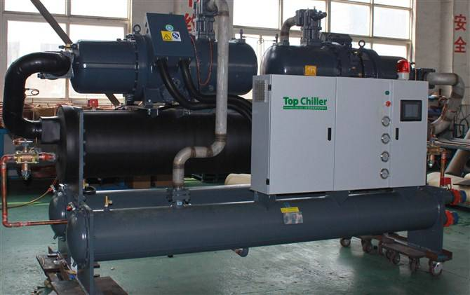 180Ton explosion-proof type water cooled screw type water chiller in Mexico