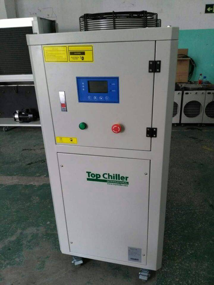 240000Btu/H Copeland compressor packaged air cooled chiller for chocolate ball mill machine