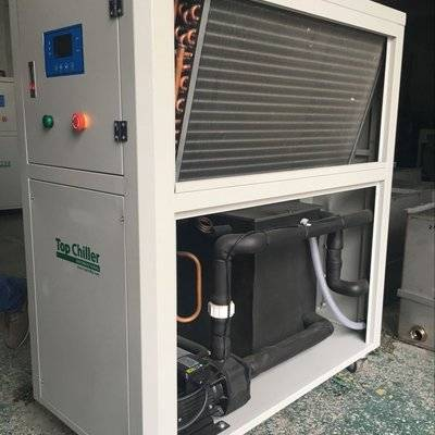 -5C/-8C air to water industrial chiller with glycol liquid circuation chiller system