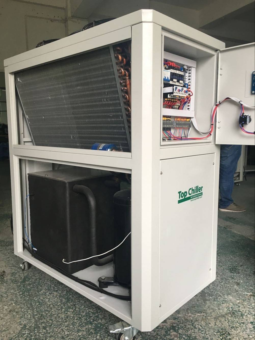 10Ton cooling capacity -5C air to water low temperature industrial chiller system