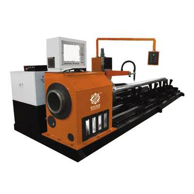 Steel tube cutting and beveling machine