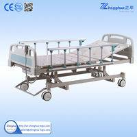 Height adjustment three function electric hospital bed