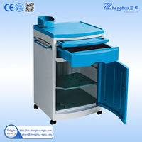 ZHF-BC06 CE&ISO; Approved ABS best quality bedside locker with dinning board and 4 castors