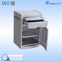 ZHF-BC01 Hospital furniture Plastic bed side locker with dinning board