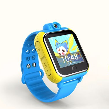 Fashion Color Touch Screen Kids  GPS Tracker Watch with Pedometer