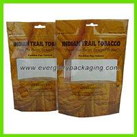 stand up tobacco plastic bag,stand up tobacco plastic bag with ziplock,Hot sale stand up tobacco plastic bag with ziplock