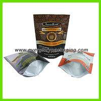 stand up coffee bag ,aluminum foil stand up coffee bag,aluminum foil stand up coffee bag with ziplock