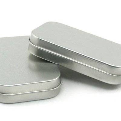 Rectangular Empty Tin Boxes Containers Small Storage tin box