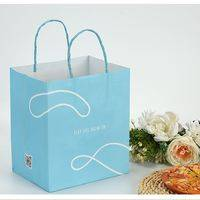 carry bag,white kraft paper bag,carry bag with twisted handle